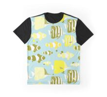 Tropical fishes. Clownfish, Forcipiger and Chelmon. Graphic T-Shirt