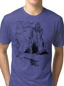 JoJo's Bizarre Adventure - Funny Valentine D4C Tri-blend T-Shirt