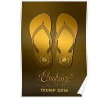 Trump's Flip-Flops Poster