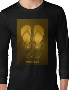 Trump's Flip-Flops Long Sleeve T-Shirt