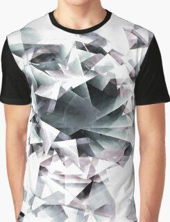 Modern Black and White Diamond Abstract Geometric Graphic T-Shirt