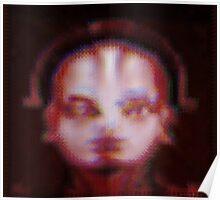 Unwavering Robot Portrait Poster