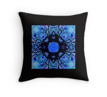 Ethnic Pattern Blue Throw Pillow