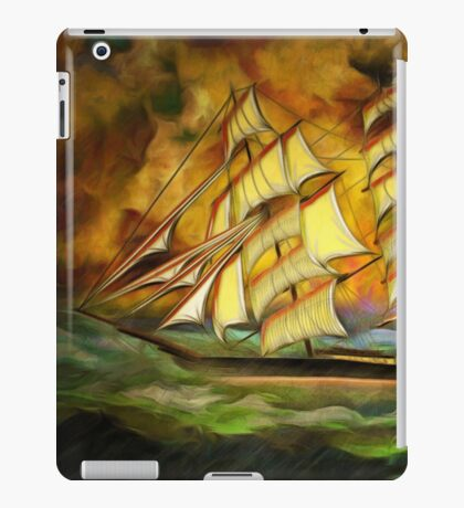A Tea Clipper Heading for Home in a Strong Blow iPad Case/Skin