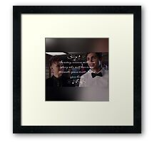 Magnus and Alec  Framed Print