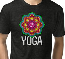 Sacred Geometry for your daily Life- YOGA Tri-blend T-Shirt