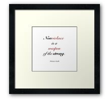 Nonviolence is a weapon of the strong- Mahatma Gandhi Framed Print