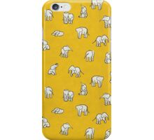Indian Baby Elephants Yellow iPhone Case/Skin