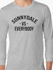 Buffy The Vampire Slayer SUNNYDALE VS EVERYBODY Scooby Gang Long Sleeve T-Shirt