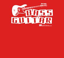 Label Me A Bass Guitar (White Lettering) Womens Fitted T-Shirt