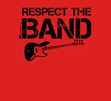 Respect The Band - Bass Guitar (Black Lettering) Womens Fitted T-Shirt