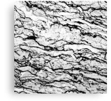 Black and White Marble Stone Pattern Canvas Print