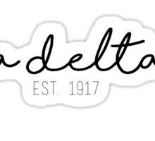 Sigma Delta Tau - Title Sticker