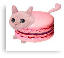 Macaroon Cat Canvas Print