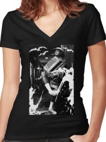 FEAR AND LOATHING IN LAS VEGAS - HUNTER S. THOMPSON JOHNNY DEPP Women's Fitted V-Neck T-Shirt