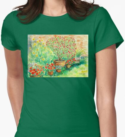 My Flourishing Oleander in Pink Womens Fitted T-Shirt