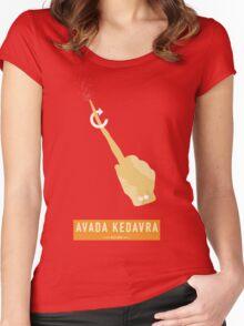 Avada Kedavra! Women's Fitted Scoop T-Shirt