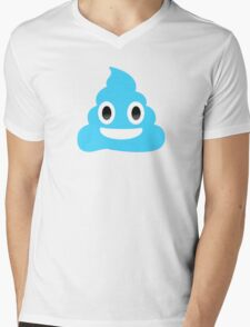 blue poop emoji Mens V-Neck T-Shirt
