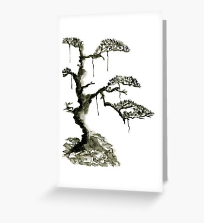 Chinese pine, a symbol of longevity Greeting Card