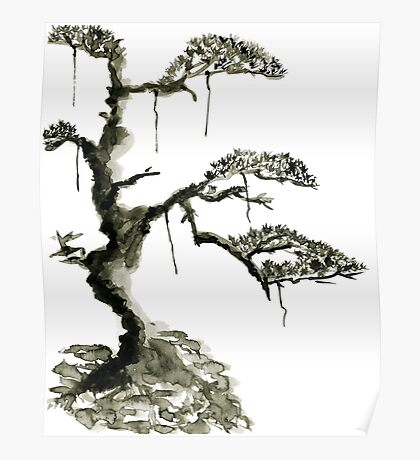 Chinese pine, a symbol of longevity Poster