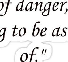 Sherlock Holmes Quote Sticker
