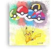Pokemon Balloons with Pikachu Canvas Print