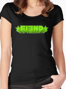 FIƎND - GREEN STARBURST Women's Fitted Scoop T-Shirt