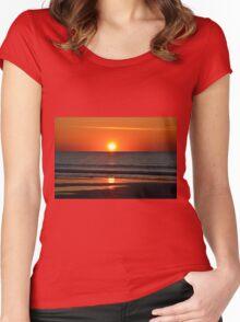 Seabrook Island Sunrise, South Carolina Women's Fitted Scoop T-Shirt