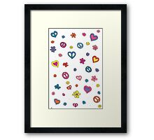 Peace Love Flowers Framed Print