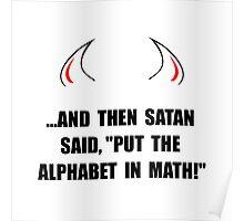 Alphabet In Math Poster