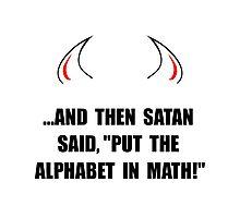 Alphabet In Math Photographic Print