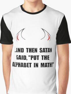 Alphabet In Math Graphic T-Shirt