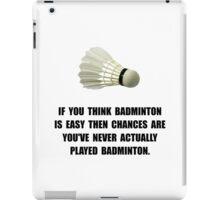 Badminton Easy iPad Case/Skin