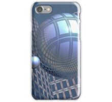 Blue Spheres Framed iPhone Case/Skin