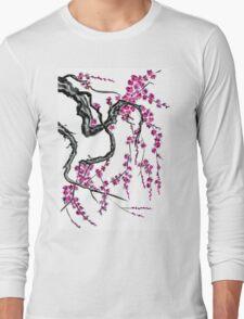 Pink flowers of sakura Long Sleeve T-Shirt