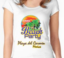 Playa del Carmen, Mexico Women's Fitted Scoop T-Shirt