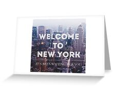 Welcome to New York Taylor Swift Greeting Card
