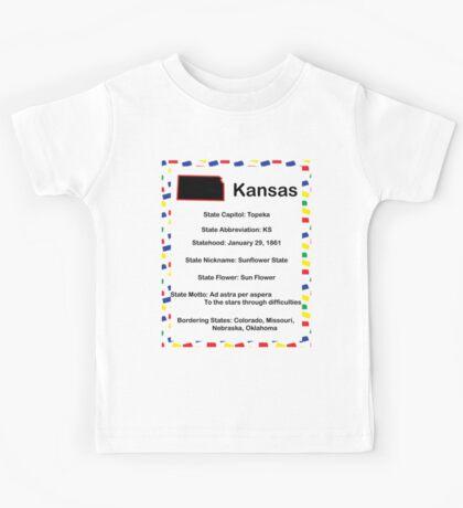 Kansas Information Educational Kids Tee