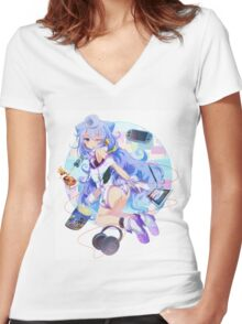 Onee Chan Women's Fitted V-Neck T-Shirt