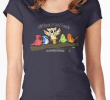 Actually Autistic Owl - Different not Less Women's Fitted Scoop T-Shirt