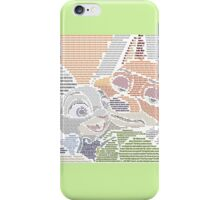 Nick and Judy word Art iPhone Case/Skin