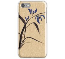 'Morning Orchids'  Sumi-e ink wash painting iPhone Case/Skin
