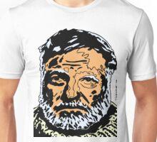 Ernest Hemingway Colour Portrait. Unisex T-Shirt