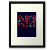 Metal Gear Solid Inventory, Ver. A-1 Framed Print
