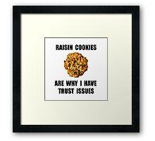 Raisin Cookie Framed Print