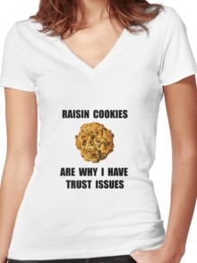 Raisin Cookie Women's Fitted V-Neck T-Shirt