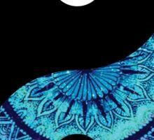 Blue Mandala Yin Yang Sticker