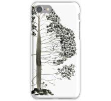 Single Pine, a symbol of longevity iPhone Case/Skin