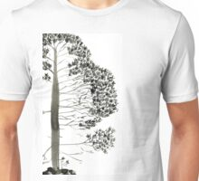 Single Pine, a symbol of longevity Unisex T-Shirt