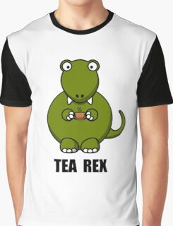 Tea Rex Dinosaur Graphic T-Shirt